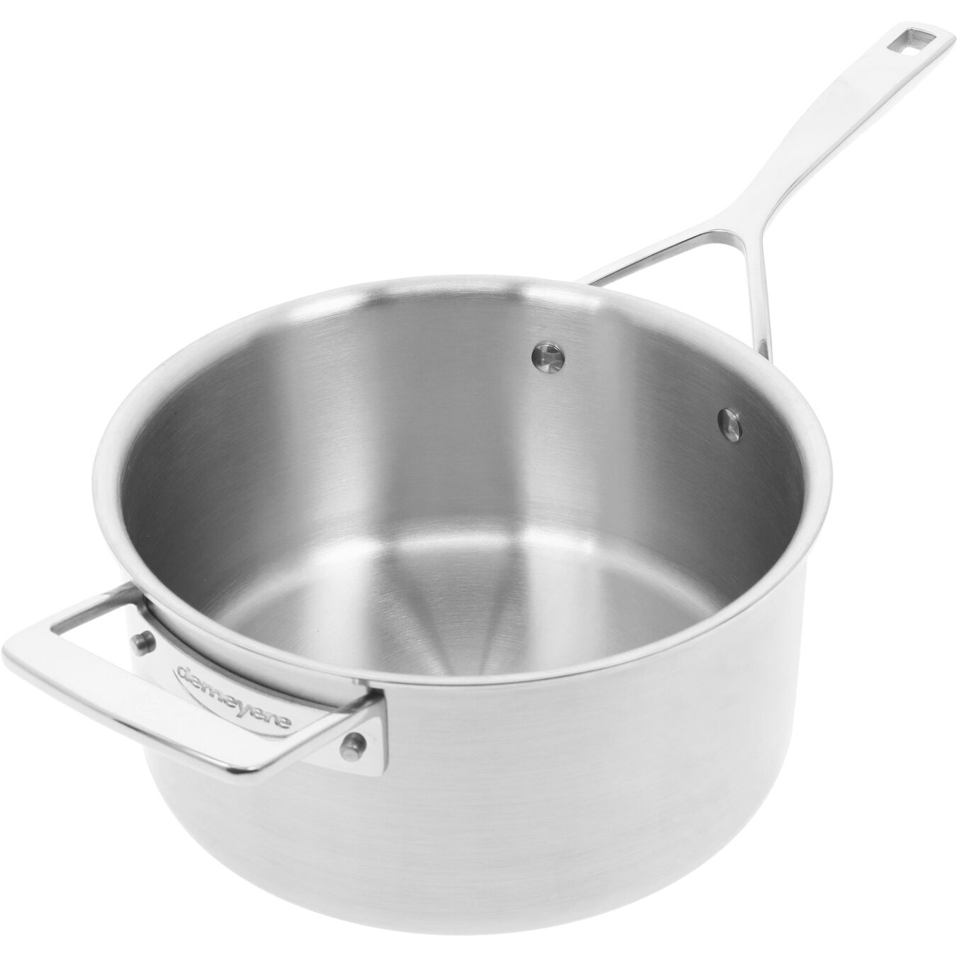 3.8 l round sauce pan with lid 4QT, silver,,large 8