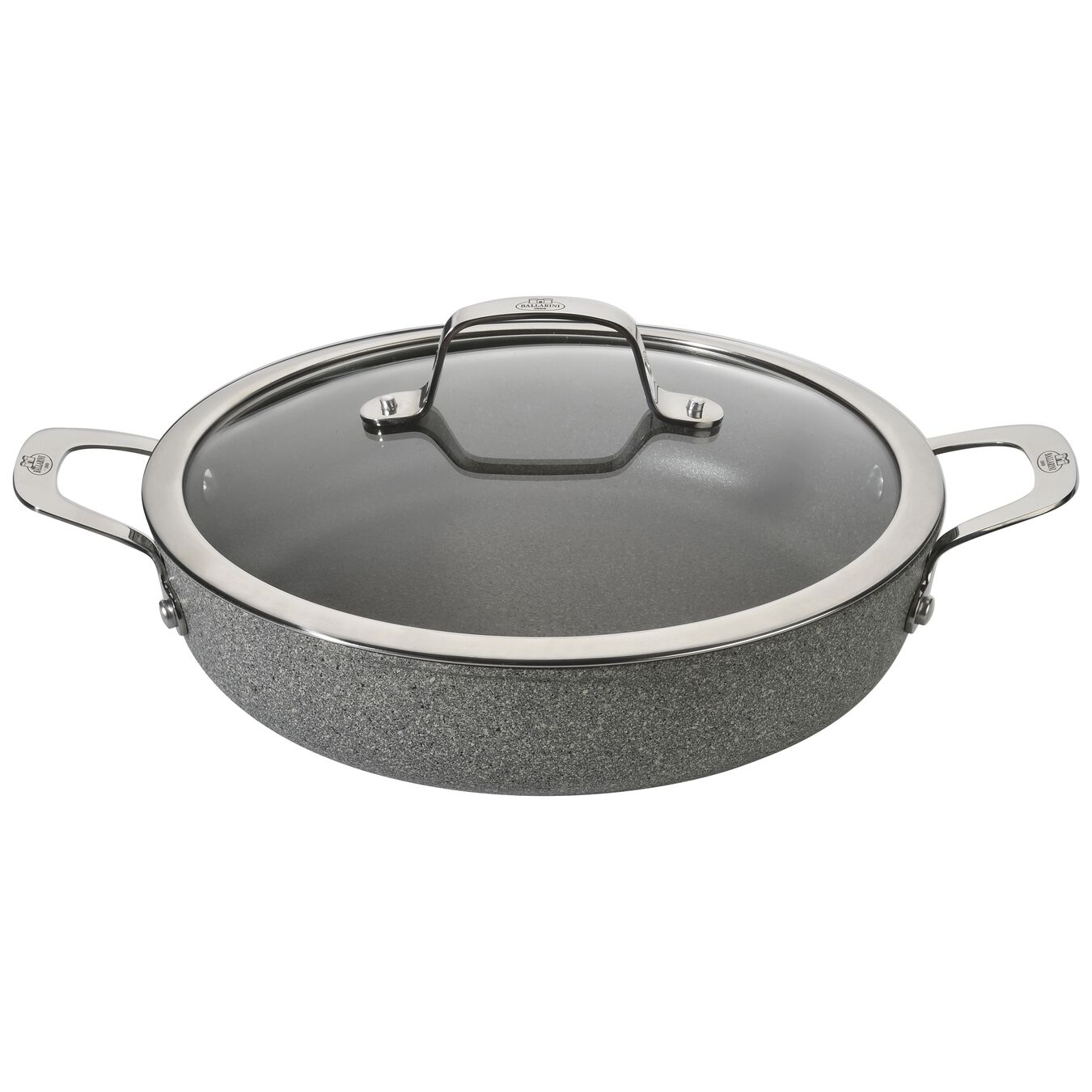 round Saucier and sauteuse with lid, stone grey,,large 1