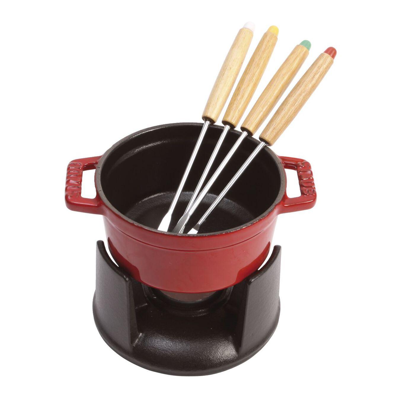 Service à fondue 10 cm, Cerise, Fonte,,large 4