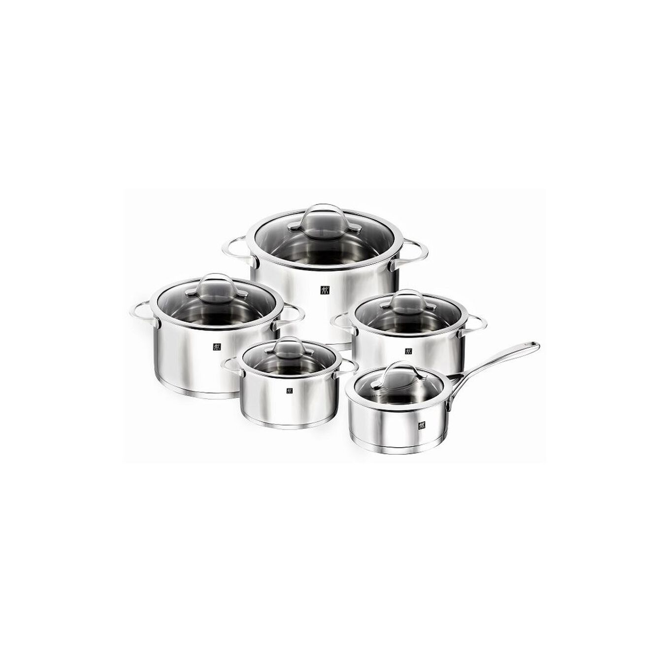Pot set, 10 Piece   round   18/10 Stainless Steel,,large 5