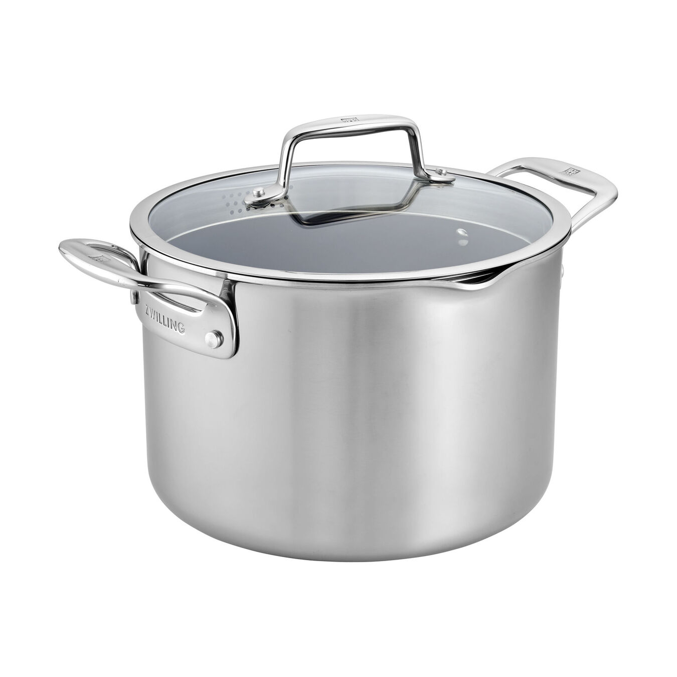 8 qt, Ceramic, Non-stick, Stainless Steel Stock Pot,,large 1