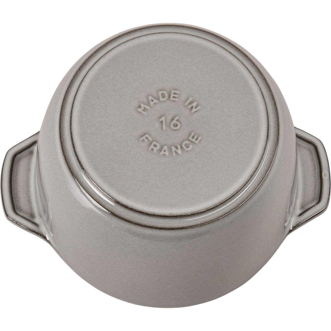 Reis-Cocotte 16 cm, rund, Graphit-Grau, Gusseisen,,large 9