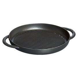Staub Cast iron, 26 cm Cast iron round Pure Grill, Black