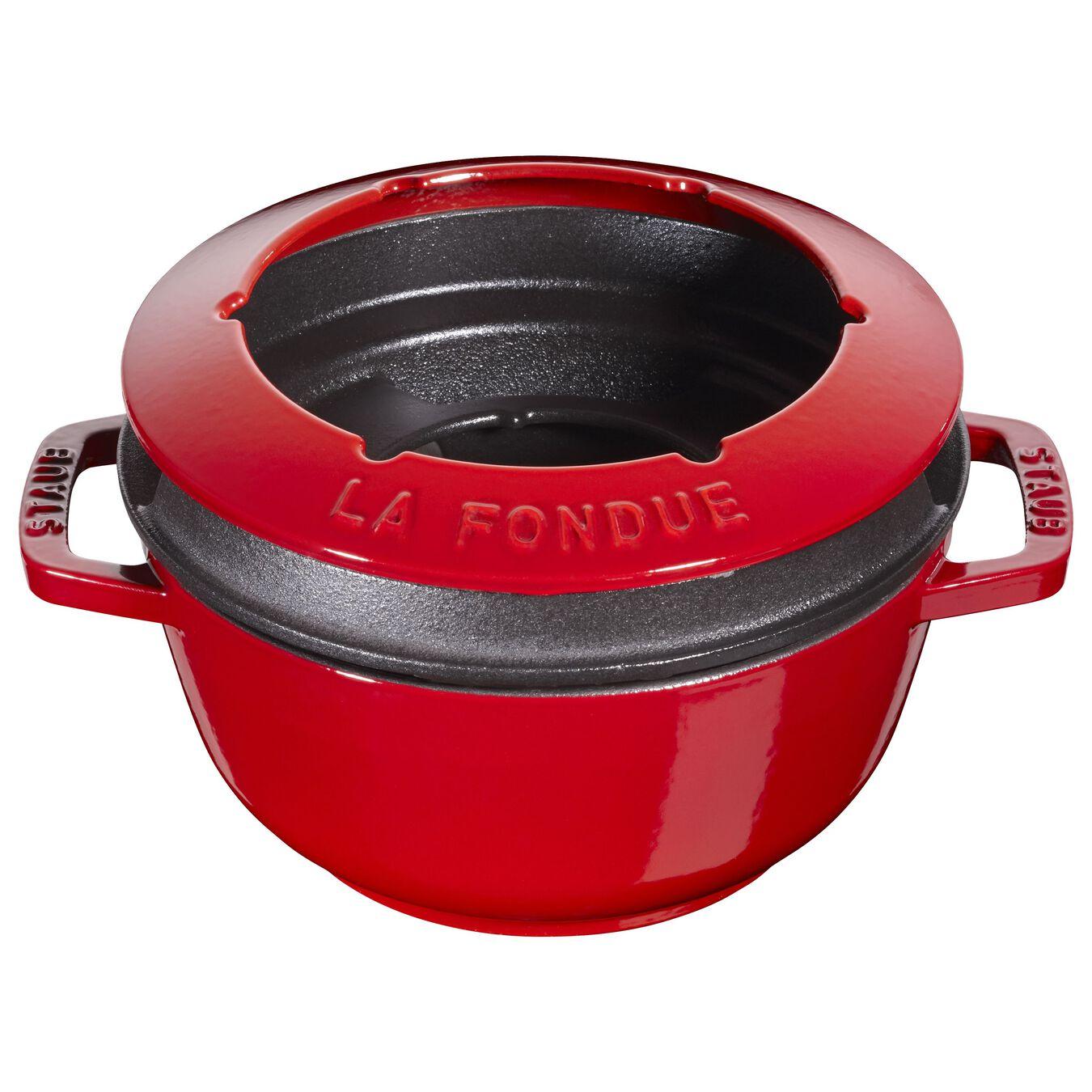 Service à fondue 18 cm, Cerise,,large 5