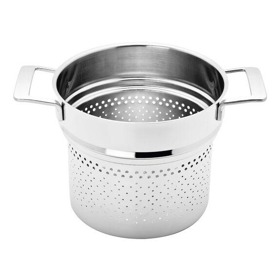 8-qt Stainless Steel Pasta Insert (Fits 8-qt Stock Pot),,large