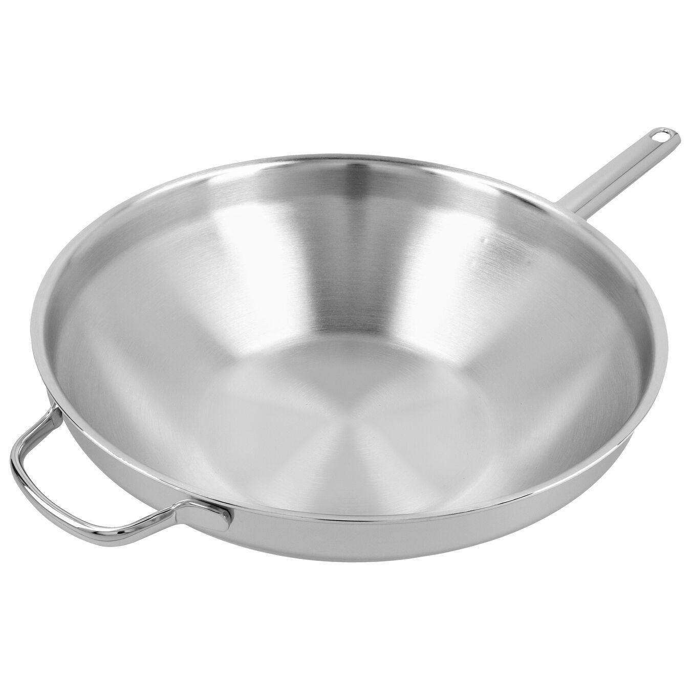 Wok fondo piatto - 32 cm, 18/10 acciaio inossidabile,,large 3