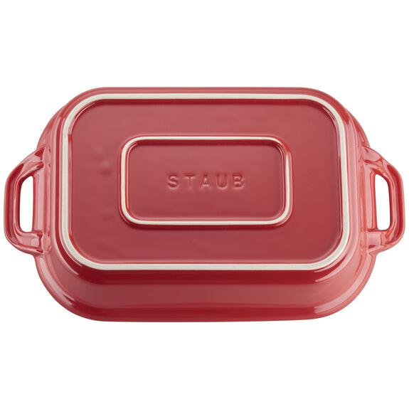 12-inch x 8-inch Rectangular Covered Baking Dish - Cherry,,large 5