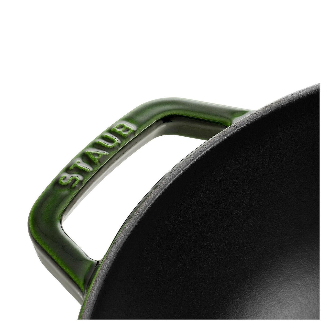 Wok mit Glassdeckel 30 cm, Gusseisen,,large 3