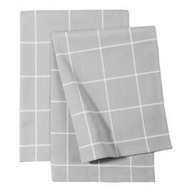 ZWILLING Textiles, 2 Piece cotton Kitchen towel set checkered, grey