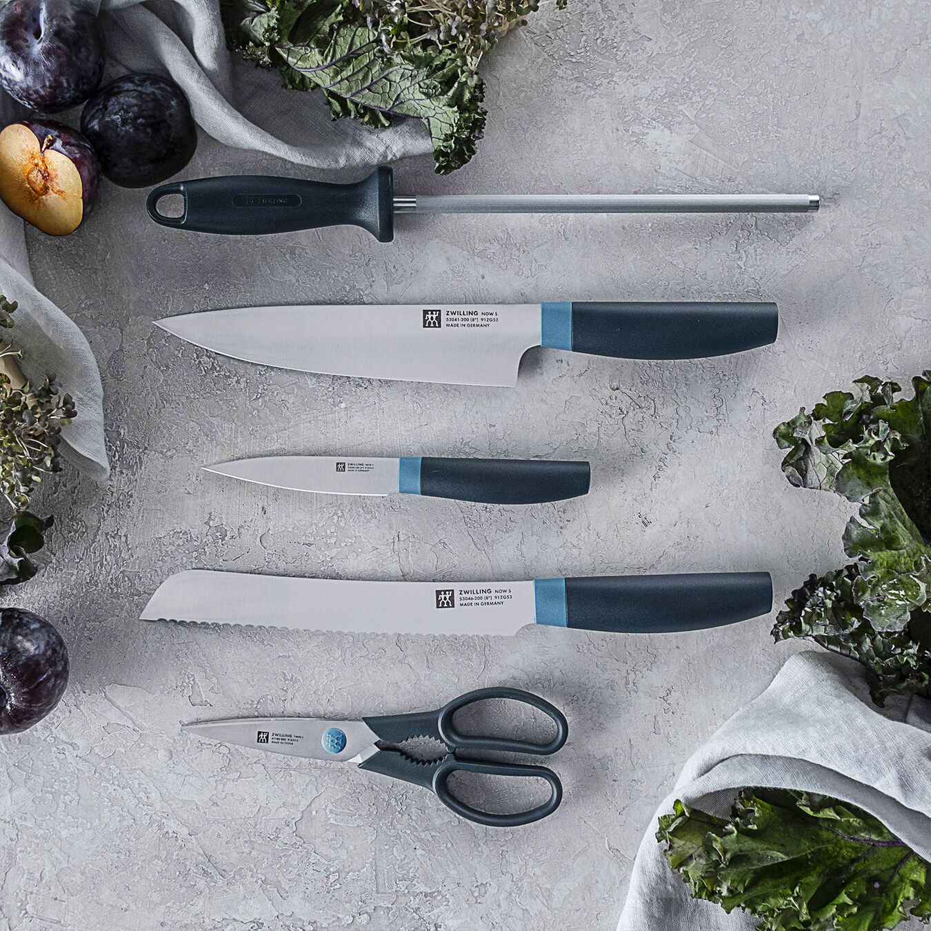 6-pc, Z Now S Knife Block Set, blueberry,,large 5