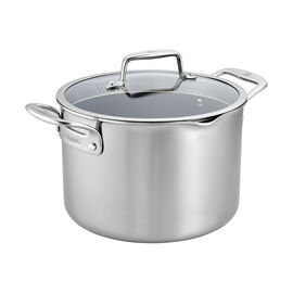 ZWILLING Clad CFX, 8-qt Stainless Steel Ceramic Nonstick Stock Pot