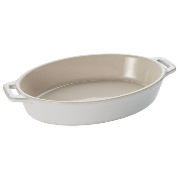 Ceramic Oval Baking Dish, Ivory,,large 2