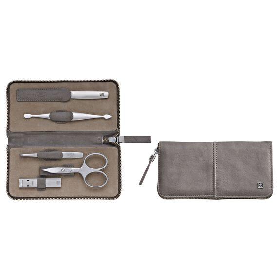 5-Piece Calf leather Zip fastener case,,large