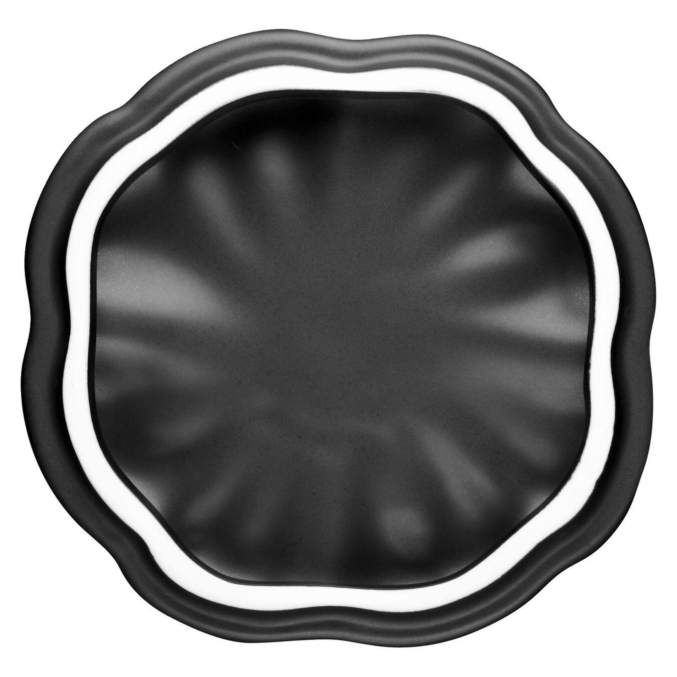 Keramik-Kürbis 0.75qt / 0.7 l - Black Matte 15 cm, Kürbis, Schwarz, Keramik,,large 5