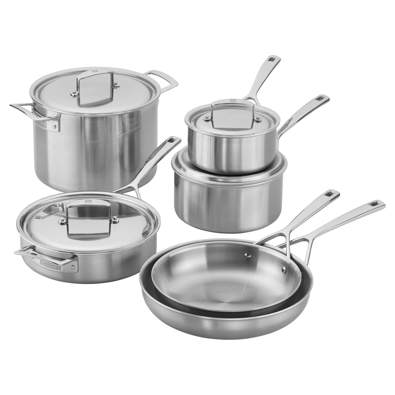 Stainless Steel 10 Piece Cookware Set,,large 1