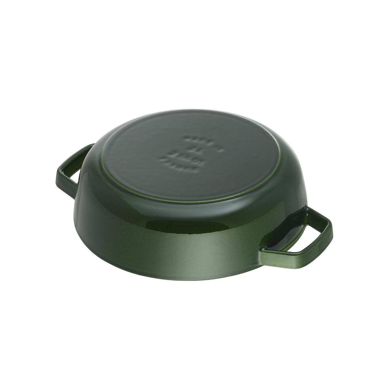 3.75 l Cast iron round Saute pan Chistera, Basil-Green,,large 4