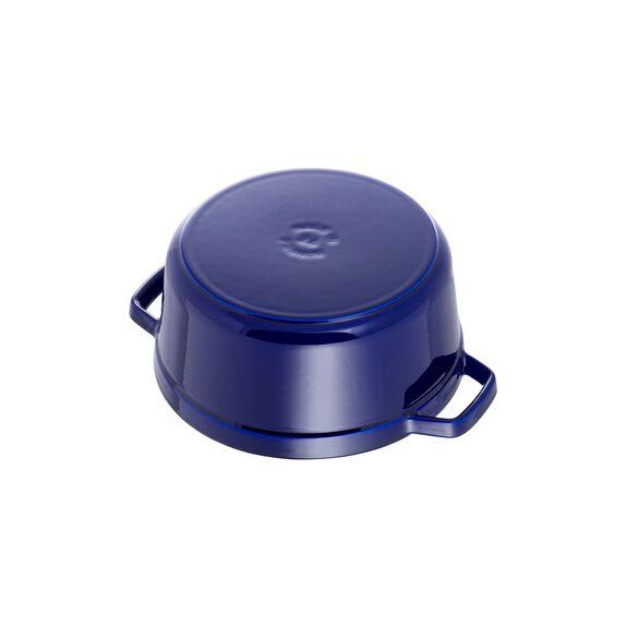 4-qt Round Cocotte - Dark Blue,,large 5