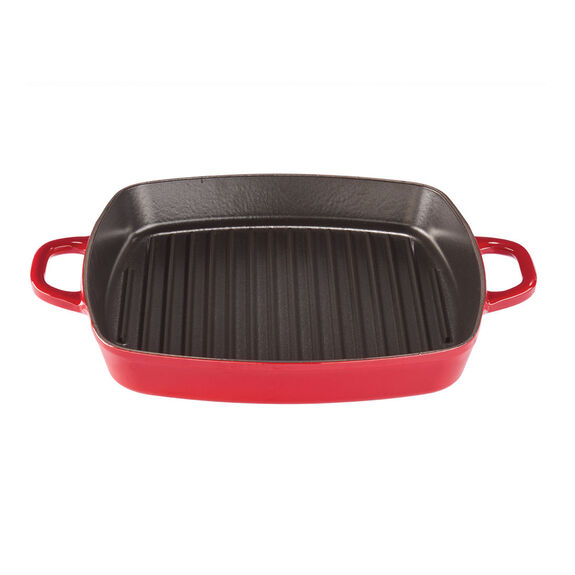 12-inch Square Grill Pan - Visual Imperfections - Cherry,,large