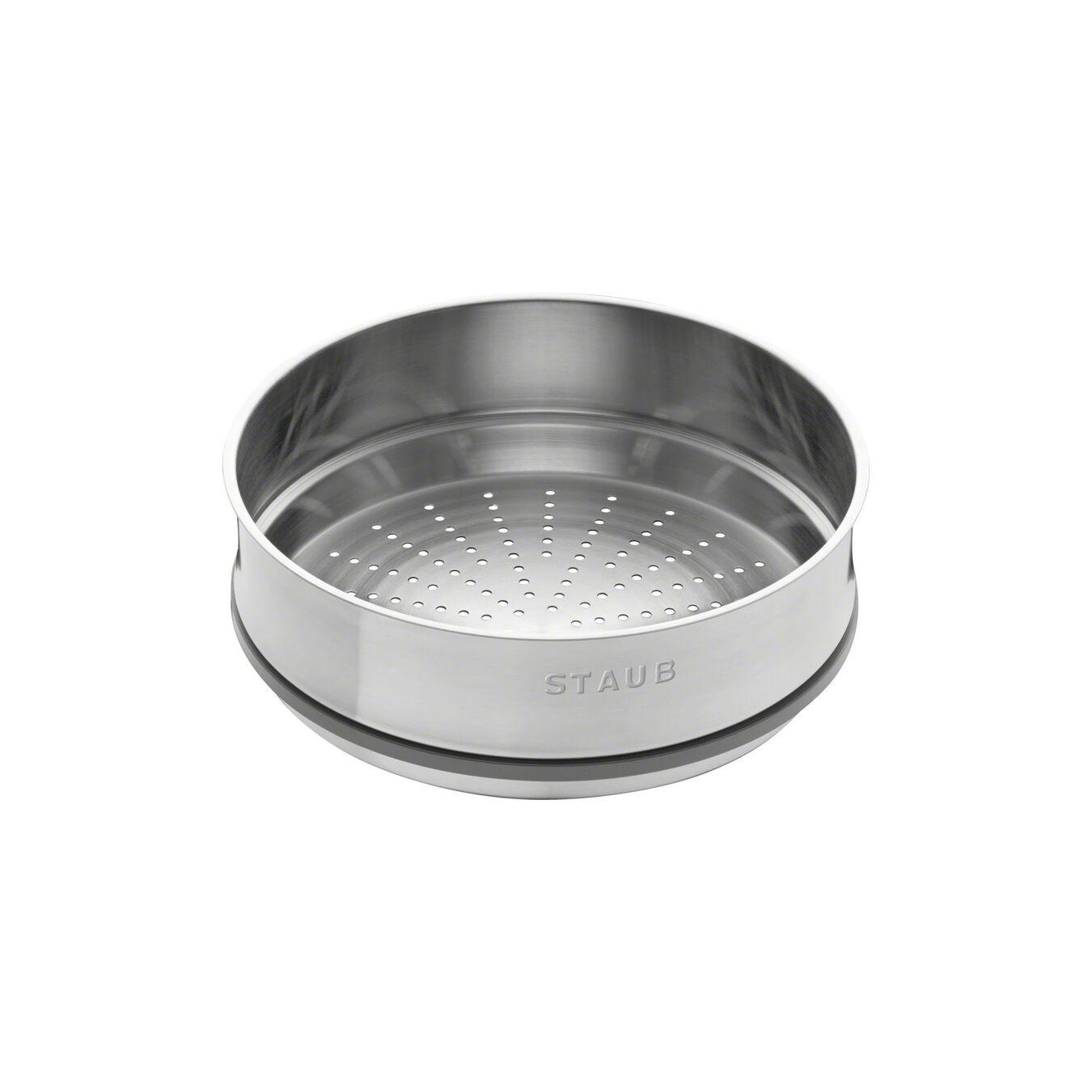 Cocotte con cestello a vapore rotonda - 26 cm, nero,,large 3