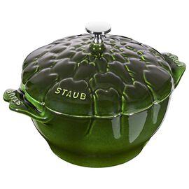 Staub Cast iron, 3-qt-/-22-cm Artichoke Cocotte, Basil-Green
