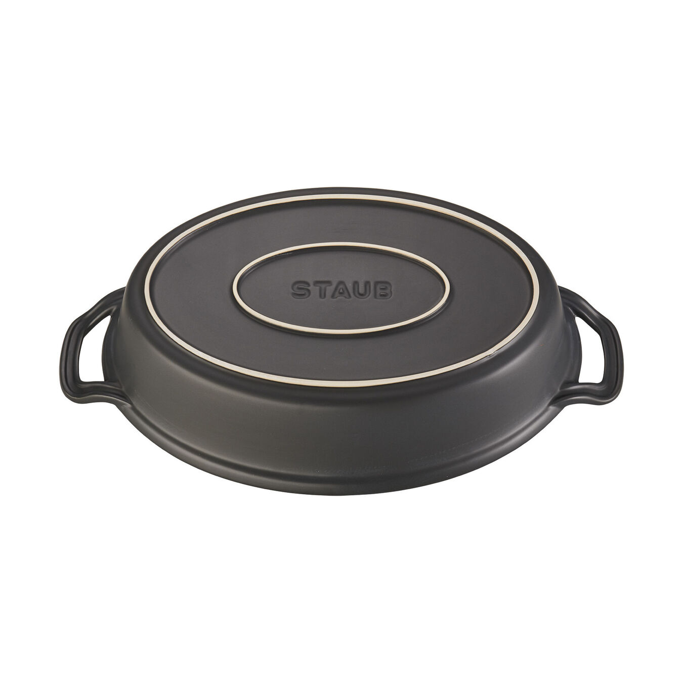 14-inch Oval Covered Baking Dish - Matte Black,,large 3