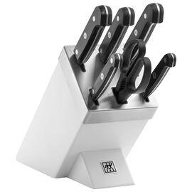 ZWILLING Gourmet, Set di coltelli con ceppo con sistema autoaffilante - 7-pz., bianco