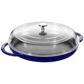Staub Cast Iron, 12-inch Round Steam Griddle - Dark Blue