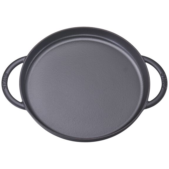 12-inch Chicken al Mattone Griddle & Press Set - Matte Black,,large 2