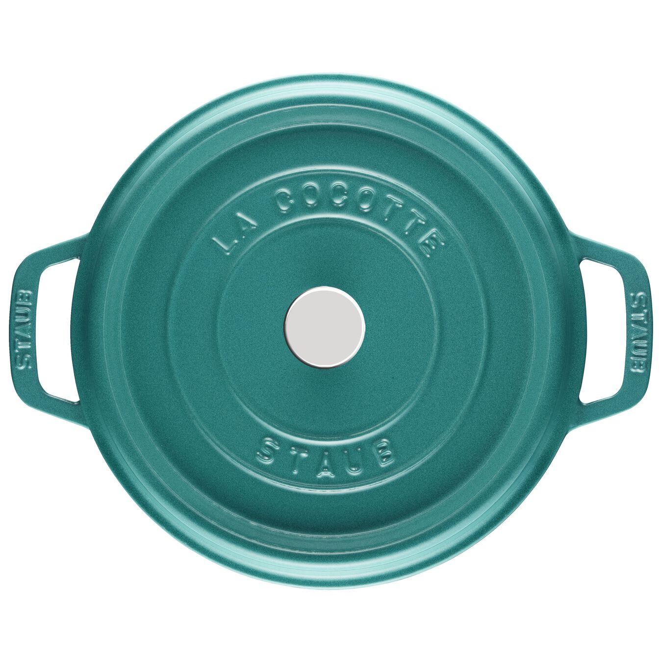 4 qt, round, Cocotte, turquoise,,large 2