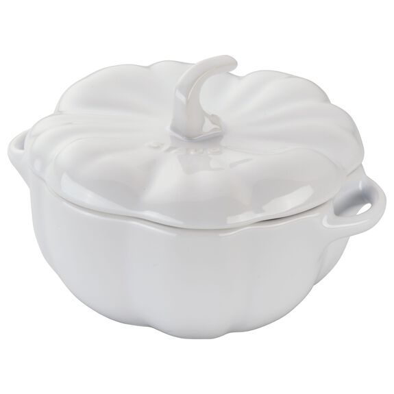 0.75-qt Special shape Cocotte, White,,large 5