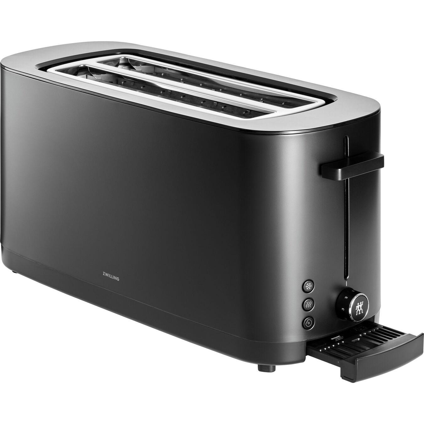 2 Long Slot Toaster - Black,,large 3