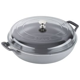 Staub Cast Iron, 3.5-qt Braiser with Glass Lid - Graphite Grey
