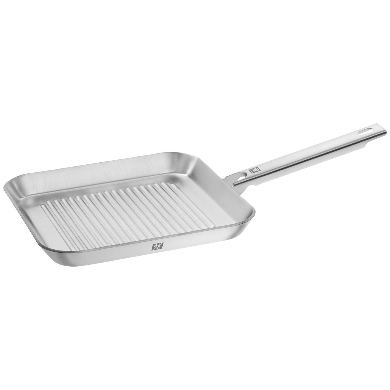24 cm / 9.5 inch 18/10 Stainless Steel square Grill pan, silver,,large 1