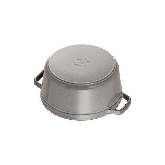 4-qt Round Cocotte - Graphite Grey,,large 6