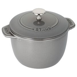 Staub Cast iron, 1.5 l Cast iron round Rice Cocotte, Graphite-Grey