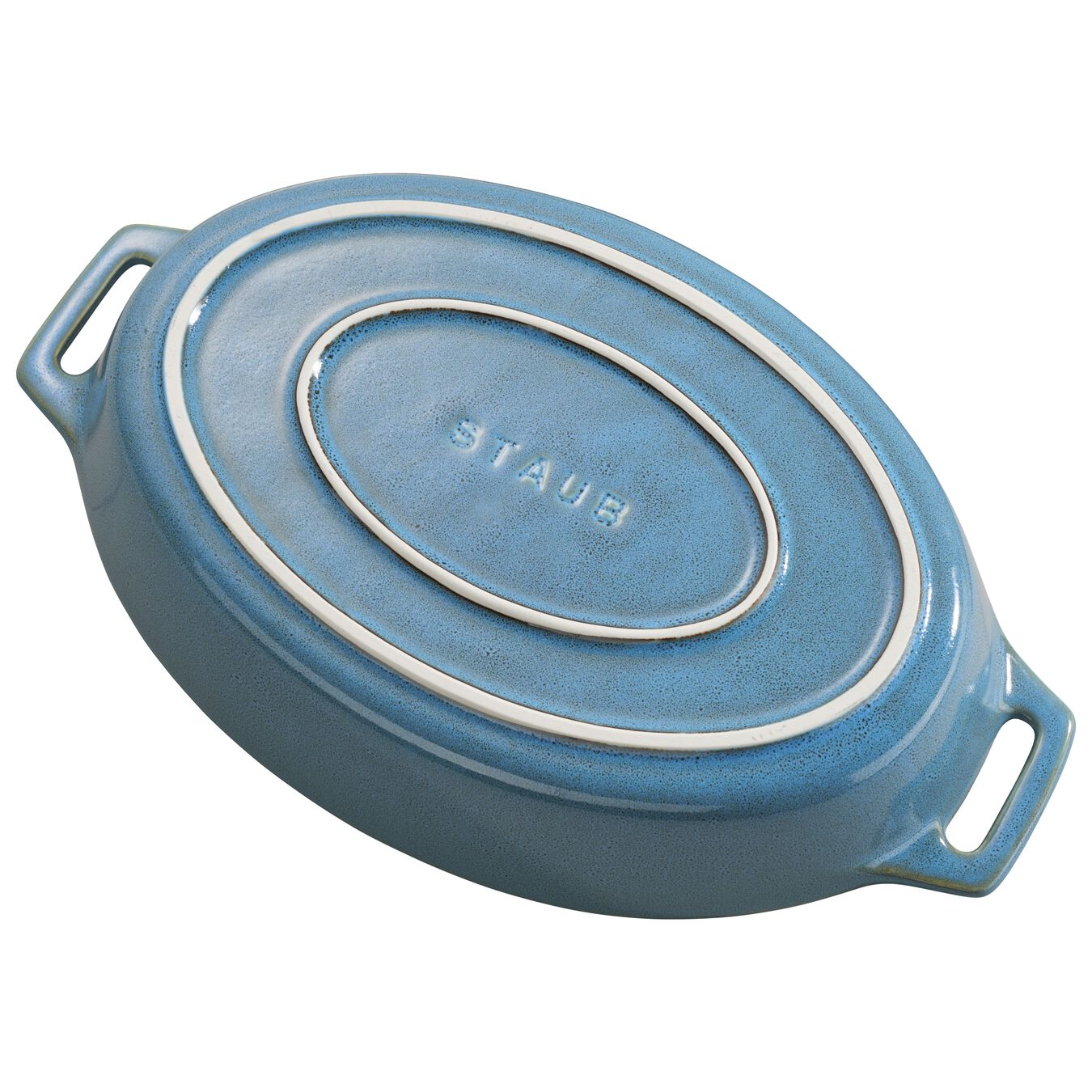 11-inch Oval Baking Dish - Rustic Turquoise,,large 3