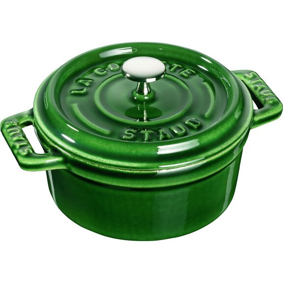4-inch round Mini Cocotte, Basil,,large 2