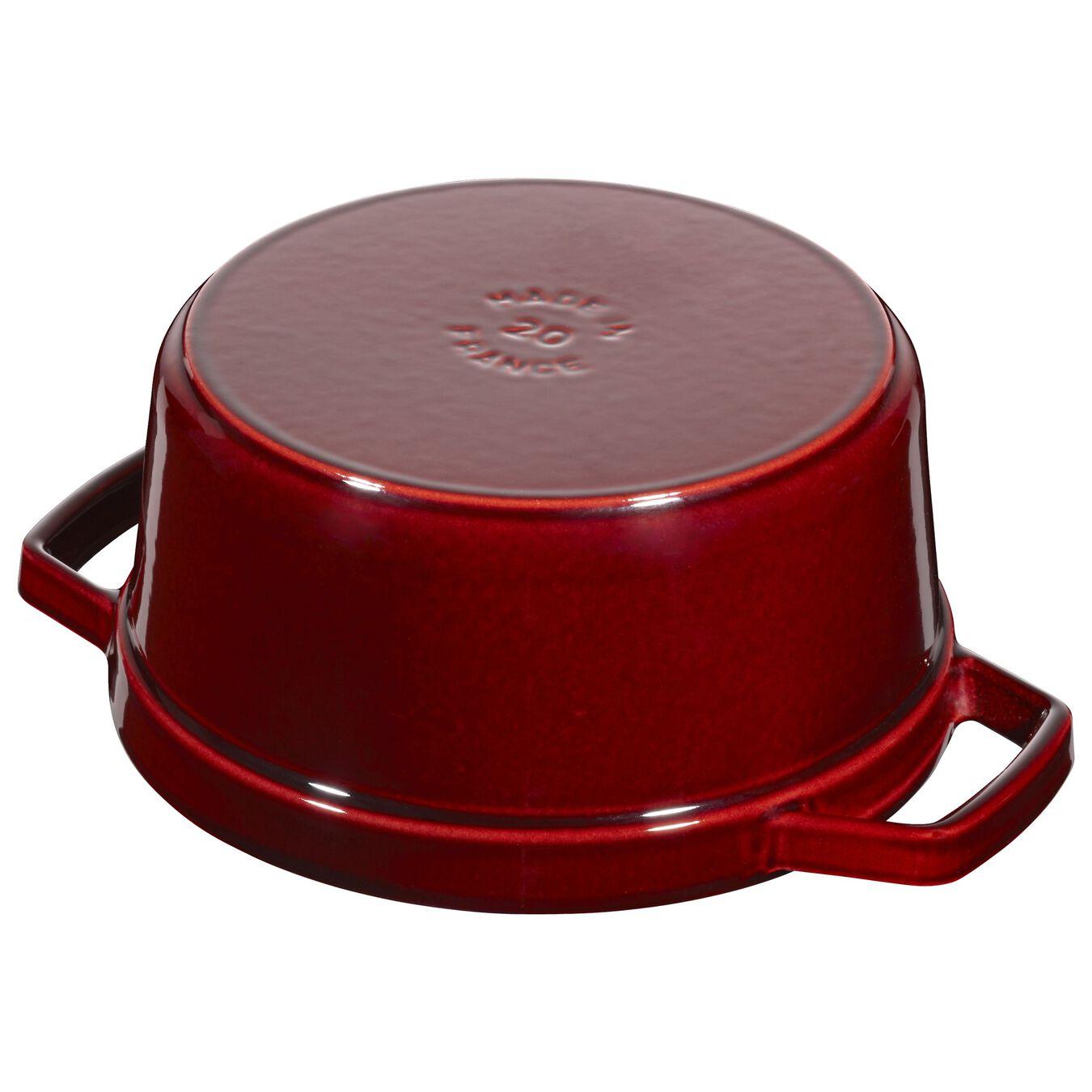 2.25 l Cast iron round Saute pan, Grenadine-Red,,large 2