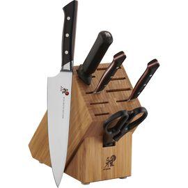 MIYABI Red Morimoto Edition, 6-pc, Knife block set