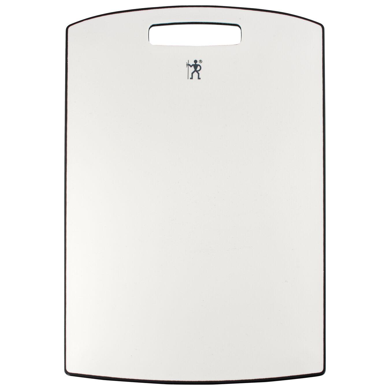 10-inch x 1-inch Medium White Cutting Board - Gray Border, PP ,,large 1