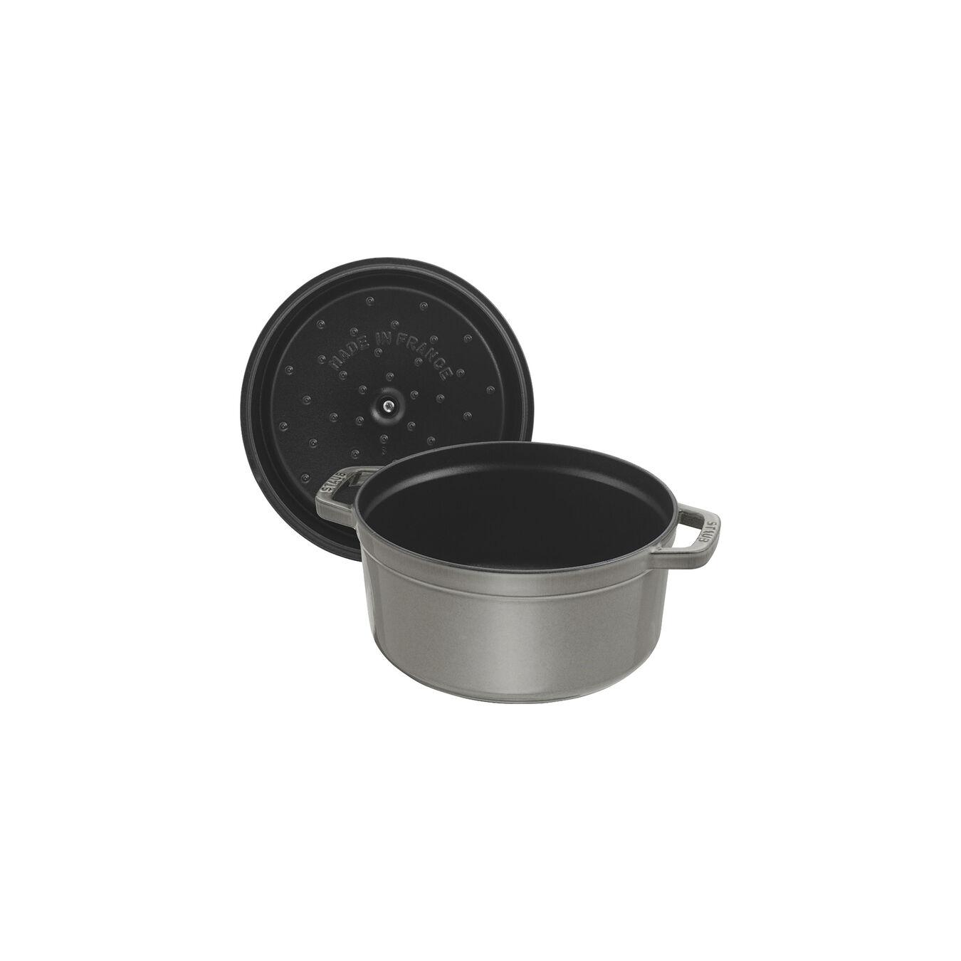 Cocotte rotonda - 20 cm, Colore grigio grafite,,large 4