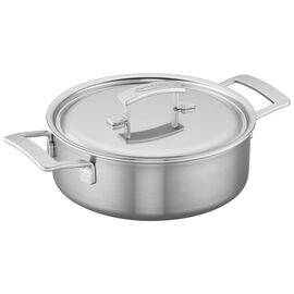 Demeyere Industry, 4 qt Deep Sauté Pan with Lid, 18/10 Stainless Steel