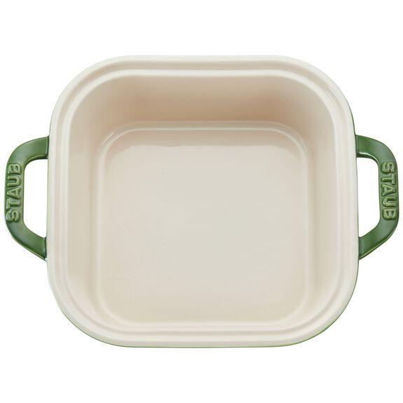 Ceramic Square Covered Baking Dish, Basil,,large 2