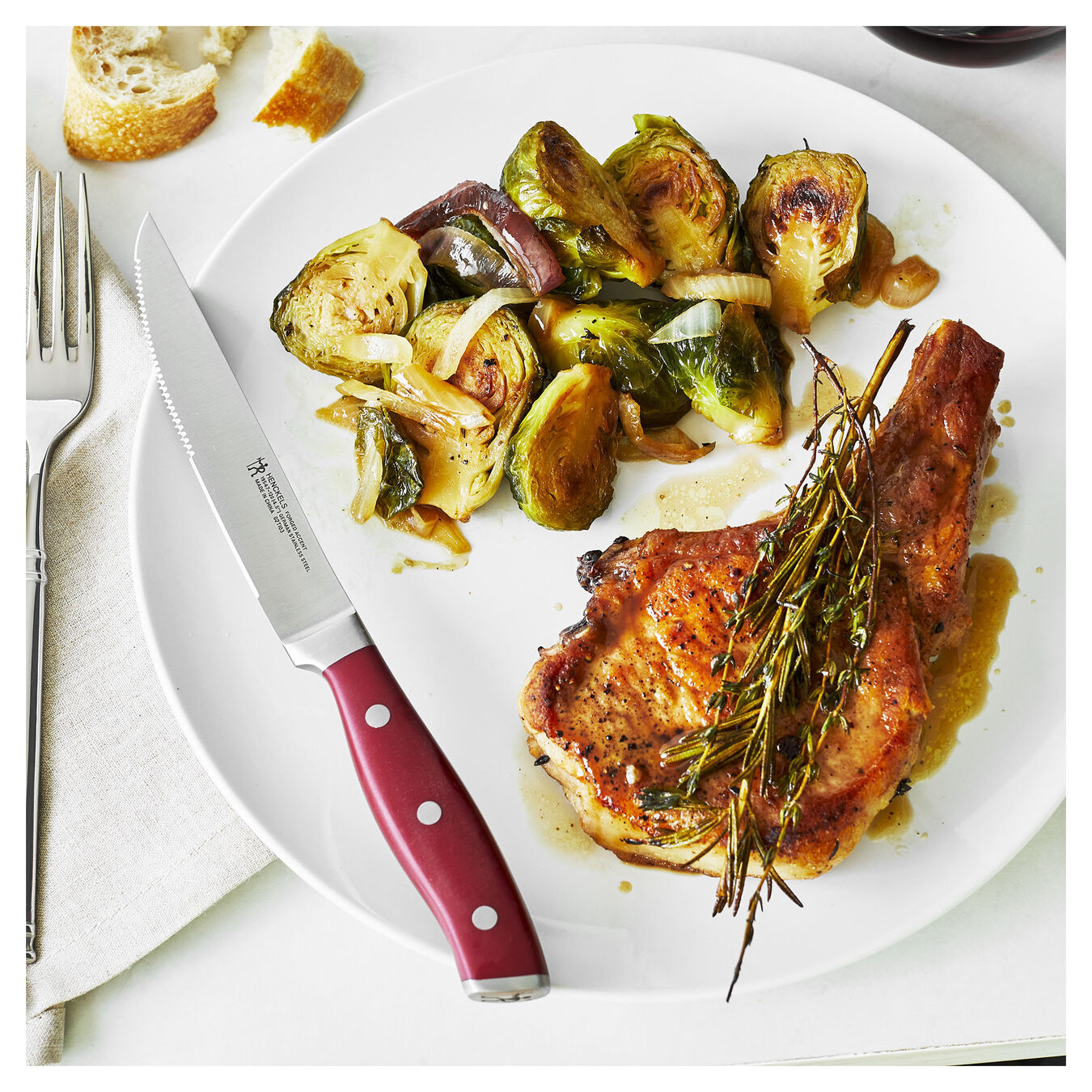 4-pc, Steak Knife Set - Red,,large 3