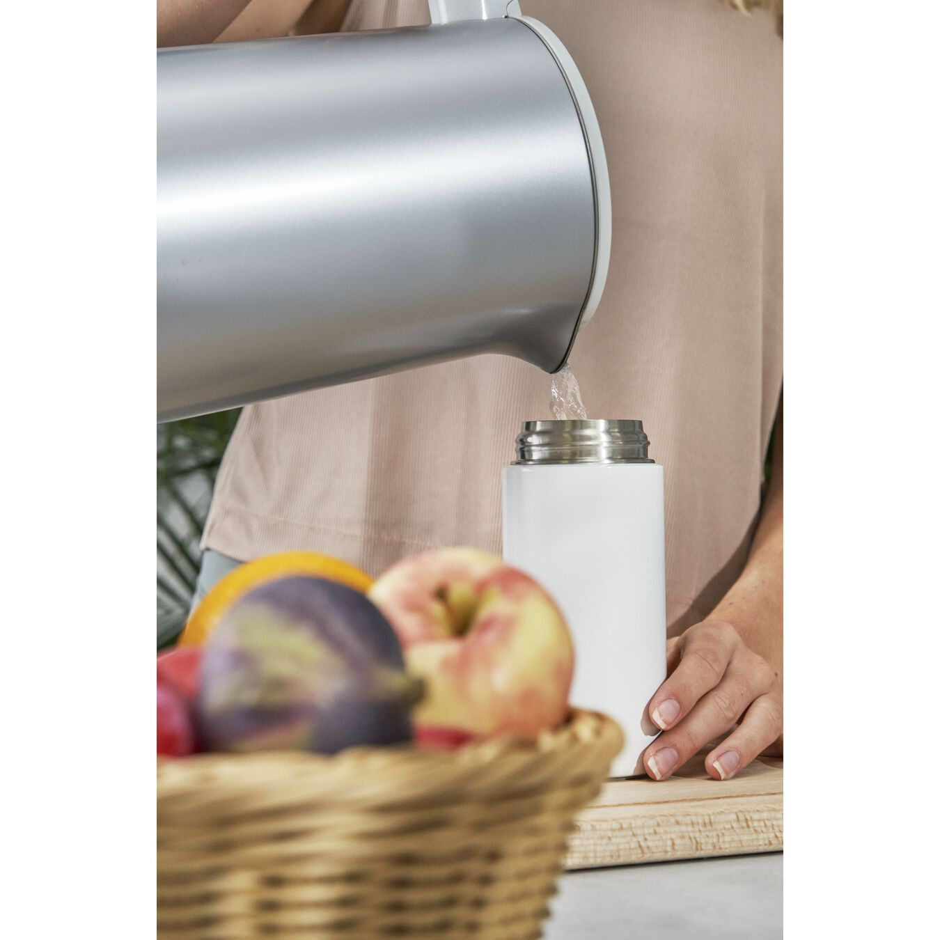 Thermos flask, 420 ml | White,,large 8
