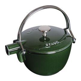 Staub Cast Iron, 1.25 qt, round, Tea pot, basil