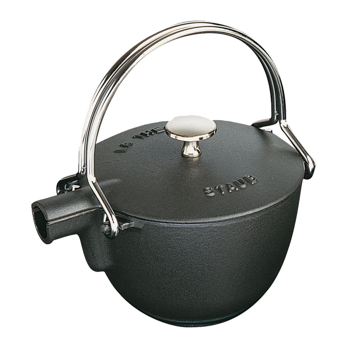 1.25 l Cast iron Tea pot, Black,,large 1