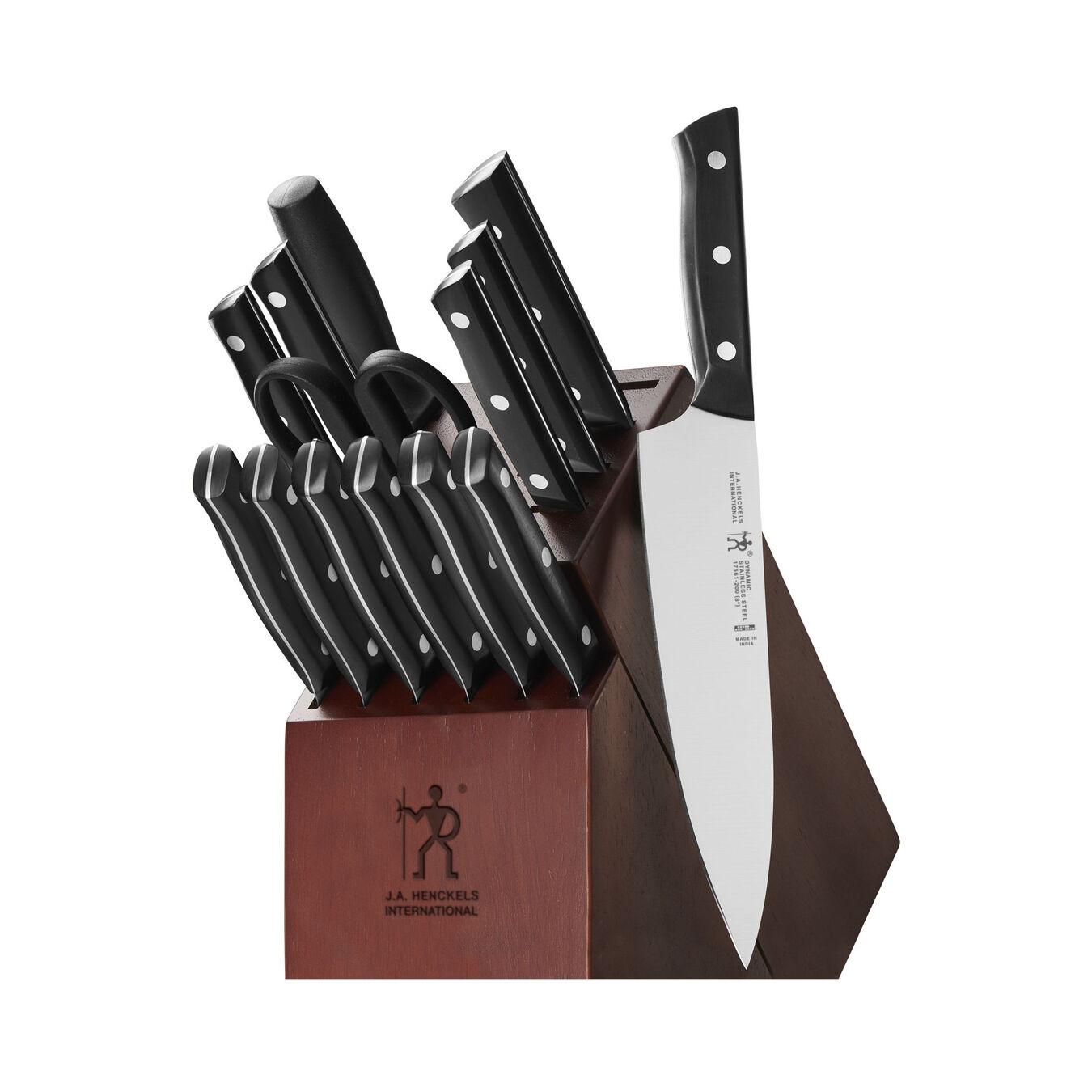 15-pc, Knife block set, brown,,large 1