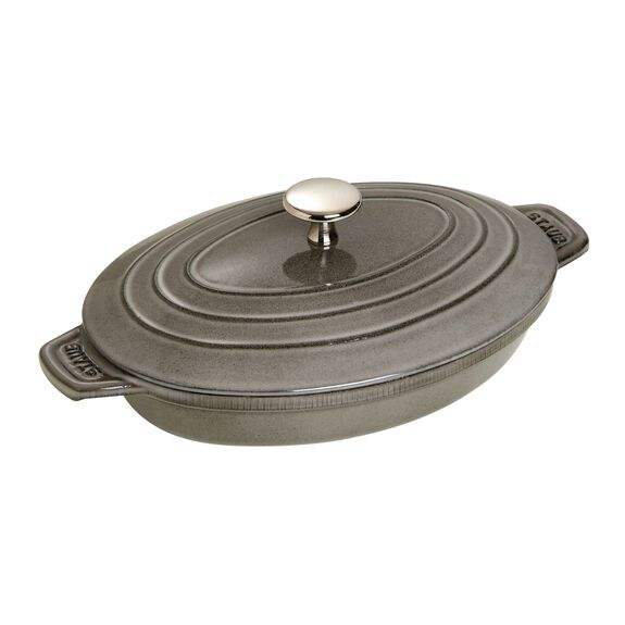 9-inch Cast iron Oven dish with lid,,large 2