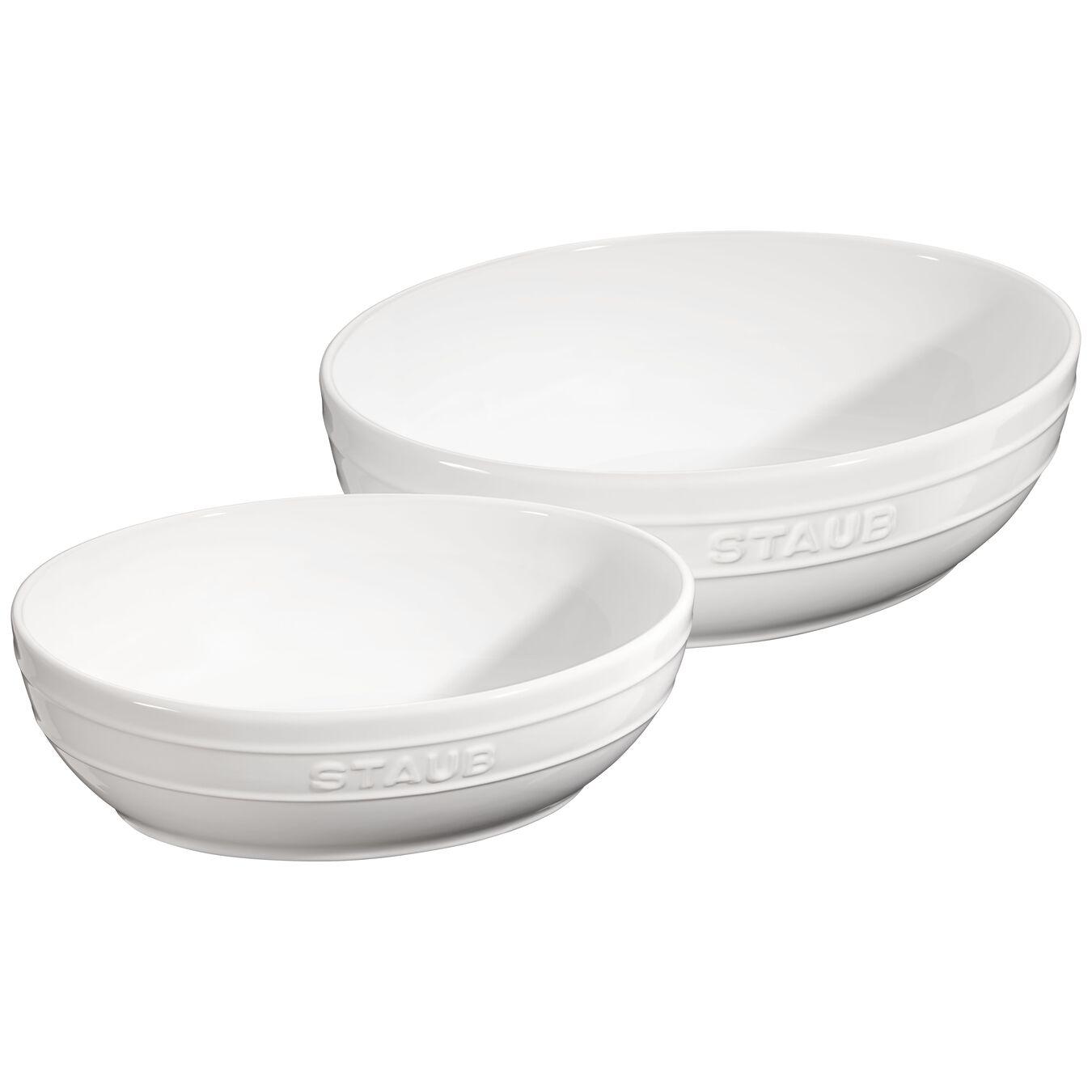 Set di ciotole - 2-pz., Colore bianco puro,,large 1